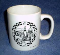 Vintage Mug  Downtown Indianapolis  80s  Kiln by ItHasGotToGo