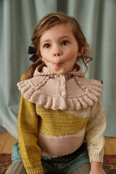misha and puff sunsuit Knitting For Kids, Baby Knitting, Baby Girl Fashion, Kids Fashion, Fashion Fall, Misha And Puff, Kid Styles, Looks Style, Victorian Fashion