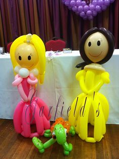 Balloon Character Models for a wedding by Garfield's Balloons Weddings Tamworth, via Flickr