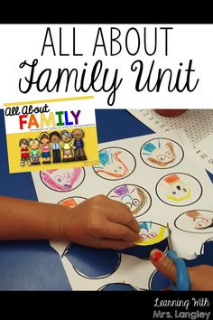 This All About Family unit is a kindergarten unit I use at the beginning of the year to learn more about our families. Includes literature connections, family tree craft, Family Book for each child to create on their own, anchor chart labels, and detailed lesson plans.