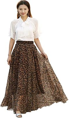 Great for MedeShe Women's Chiffon Floral Print Elasticated Waist Maxi Skirt leopard print sandals. ($29.99) findtopgoods from top store