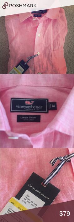 NWT vineyard vines wintucket linen shirt medium Gorgeous linen shirt! New with tags :). Size medium men's. Bahamas breeze color. Vineyard Vines Shirts Casual Button Down Shirts