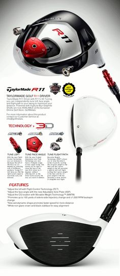 THE HI-END R-11™ DRIVER by TAYLORMADE® GOLF POWERED BY FUJIKURA® BLUR 60 GRAPHITE SHAFTS. AVAILABLE R11™ TP WITH €70 DISCOUNT.