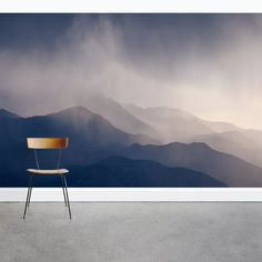 This mysterious foggy mountain mural is a perfect accent wall in your home or office. Purchase this removable misting mountain mural from Wallums. Mountain Mural, Forest Mural, Mountain Wallpaper, Arts And Crafts House, Art And Craft Design, Smooth Walls, Wallpaper Panels, Home Wall Decor, Textured Walls