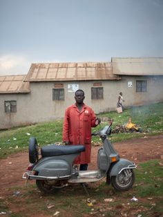 'They are strong and attractive': Vespa Club Uganda – in pictures