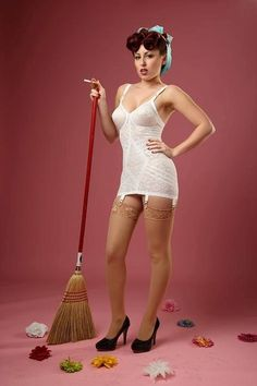 Ideal outfit for doing the housework!
