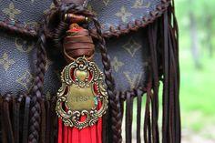 The Original Large Crossbody with Gypsy Pendant! #theoriginal #leatherandvodka