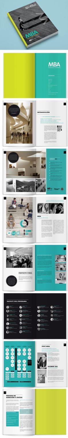 Folleto MBA / UAI 2014 by Abril Diseño , via Behance con @Francisca Sierralta