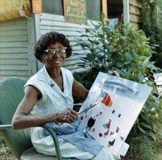 Clementine Hunter on Melrose Plantation in Natchitoches Louisiana 1960's