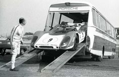 Take in a Race, one day. Converted coach to Porsche Race Transporter. #porsche #motorsport