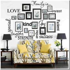 I love the idea of a family photo wall. My Mema Katie had an entire wall in her house covered with at least four generations of family pictures. Picture Arrangements, Photo Arrangement, Frame Arrangements, Photo Grouping, Wall Groupings, Diy Casa, Home And Deco, Family Pictures, Wall Pictures