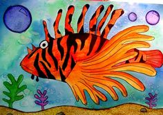 tropical fish watercolor