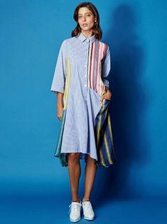 6b9432518ad Cotton Pocket Dress by Alembika at Hello Boutique Button Down Dress,  Striped Shirt Dress,