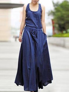 Casual Pure Color Irregular Drawstring Waist Sleeveless Dresses For Women is well-reviewed by our customers. Get Casual Pure Color Irregular Drawstring Waist Sleeveless Dresses For Women now! Mobile.