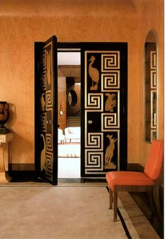 Art Deco doors | Eltham Palace, (Greenwich, England)