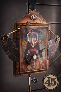 Olga WOWS with this Steampunk Spells tag with magical wings! You have to take a closer look at this one, click to see more! #graphic45 #tags