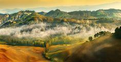 "Location:Italy , Tuscany ,  province of Siena , around Asciano , ""Crete Senesi"""