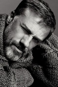 ♂ Black and white photography man portrait Christoph Waltz