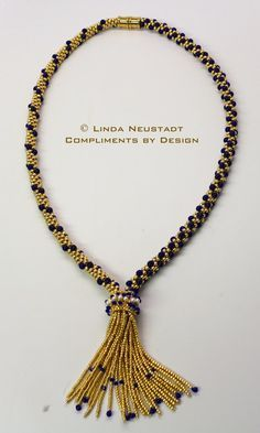 Handcrafted Kumihimo Tassel Necklace made by ComplimentsByDesign