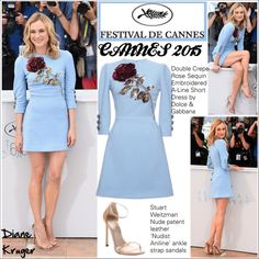 Diane Kruger Cannes 2015 by helenevlacho on Polyvore featuring Dolce&Gabbana and Stuart Weitzman