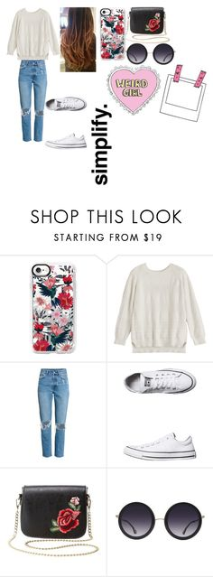 """Weird Girl"" by monkeyloverlife ❤ liked on Polyvore featuring Casetify, Converse, Charlotte Russe and Alice + Olivia"