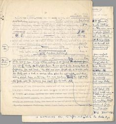 George Orwell Nineteen Eighty-Four manuscript.  Brown University's archives. George Orwell died #OnThisDay in 1950