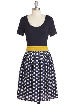 Lesson Closely Dress. Deliver your lecture to a rapt audience in this lovely, navy-blue dress - available for purchase in April! #blue #modcloth