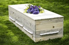 Stay green beyond the grave by planning a natural burial, or choosing a biodegradable coffin or urn. Pet Caskets, Green Funeral, Funeral Planning, Funeral Ideas, Halloween Coffin, Mother Earth News, After Life, We Are The World, Woods