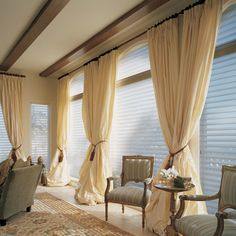 Extend curtain rods and drapery across whole wall  -- absolutely love pooled draperies. So elegant. How to measure for curtains tutorial ~~