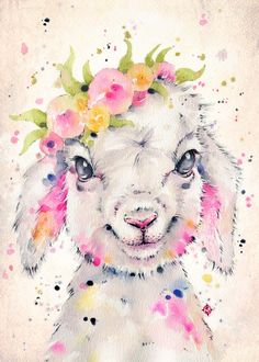 cute little baby lamb in amazing beautiful water color art illustration style, click image to print this amazing art into metal poster Watercolor Animals, Watercolor Paintings, Sheep Art, Kunst Poster, Animal Posters, Animal Paintings, Cool Artwork, Canvas Art Prints, Poster Prints