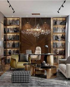 Small Office Design, Office Interior Design, Home Office Decor, Office Interiors, Luxury Interior, Interior Decorating, Home Decor, Exterior Design, Classic Interior