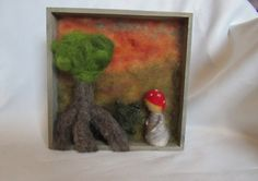 Jahreszeitentisch - Kleines Kästchen mit Wichtelkind - ein Designerstück von Puppenprofi bei DaWanda