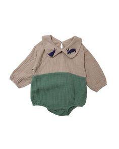 Rabbit Collar Screen-printed Bodysuit-Bodysuit, Onesie-benne bonbon