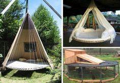 Trampoline bed idea