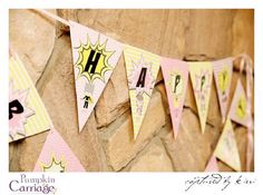 Birthday banner from Supergirl Superhero Themed Birthday Party at Kara's Party Ideas. See more at karaspartyideas.com!