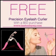 Happy 2016!! Our January customer kudos is a FREE eyelash curler with any $50 purchase! It's as easy as 2 sets of 3D Lashes, or maybe you prefer 3D Lashes and a cream shadow......the combinations are endless! Create your own $50 combo and get the curler as a gift! Shop today at www.lashesbymj.com ❤❤#iloveyounique #freegifts