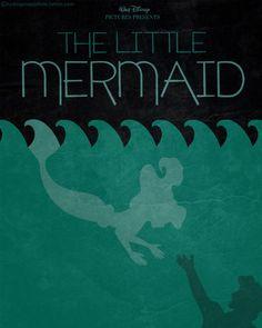 Minimal Film Poster - The Little Mermaid (1989)