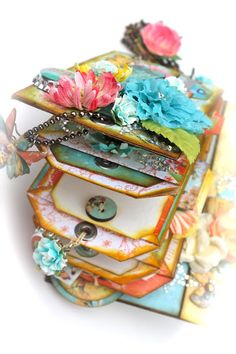 """Paper bag mini album. With A Grin: """"Zephyr"""" Mini Album + Quick Paper Bag Page Tutorial. Love this one! Good instructions for making a paper bag book."""