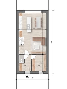 Minimal House Design, Modern Small House Design, Minimal Home, Home Design Floor Plans, Plan Design, Architecture Plan, Residential Architecture, House Layouts, Tiny House Layout