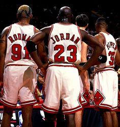 #dennis rodman #michael jordan #scottie pippen #toni kukoc #basketball