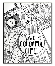 Another Great Find On Zulily Live A Colorful Life Coloring Wall Art