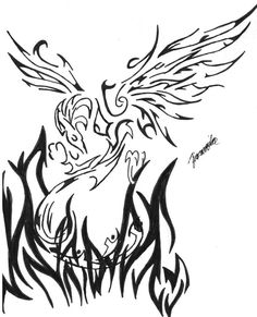 Fire Phoenix Bird Meaning Art Tattoo | Tattoo | Pinterest Tribal Tattoos, Phoenix Bird Meaning, Tattoos, Picture Tattoos, Art Tattoo, Phoenix Bird, Art, Ink, Pictures