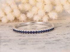Sapphire Wedding Band Half Eternity Band Sapphire by kilarjewelry