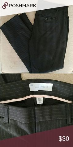 Gap Cropped Work Pants Dark gray pin stripe, hits at the ankles. Super comfy and cute pair of dress pants GAP Pants Ankle & Cropped