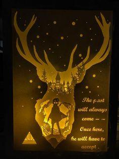 Harry Scherenschnitt Potter Lichtkasten Nacht Licht von trysogodar
