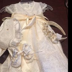 Heirloom Baby Boy Christening Gown, Hand Made baptism outfit for boy, Model Burbvus Christening Gowns For Boys, Baby Boy Baptism Outfit, Baptism Gown, Ivory Shoes, Tie Shoes, Boy Outfits, Cute Dresses, Jumpsuit, Beautiful