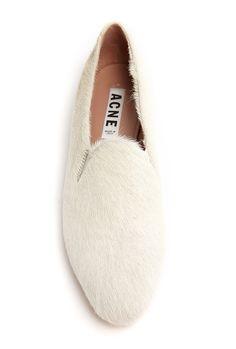 pony hair slipper : acne @CO DE + / F_ORM