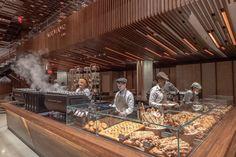 Starbucks Reserve Roastery Opens in New York Starbucks Reserve, Simple Cafe, Walnut Chair, Brew Pub, Coffee Branding, Coffee Design, New York Mets, Cafe Bar, New York