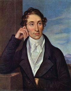 """Carl Maria von Weber (1786-1826) war Komponist, Dirigent und Pianist. Eines seiner Werke ist """"Der Freischütz"""" von 1821. Aus dem gleichen Jahr stammt dieses Gemälde."""