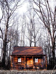 I often dream about living out in a cabin in the woods.